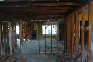 House interior under deconstruction